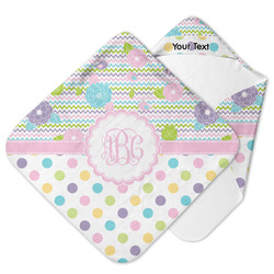 Girly Girl Hooded Baby Towel (Personalized)