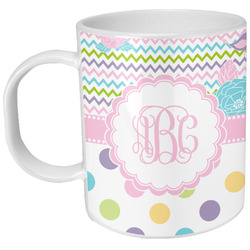 Girly Girl Plastic Kids Mug (Personalized)