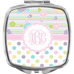 Girly Girl Compact Makeup Mirror (Personalized)