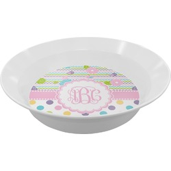Girly Girl Melamine Bowl (Personalized)