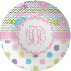 "Girly Girl 8"" Melamine Appetizer / Dessert Plate (Personalized)"