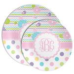 Girly Girl Melamine Plate (Personalized)