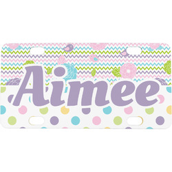 Girly Girl Mini / Bicycle License Plate (4 Holes) (Personalized)