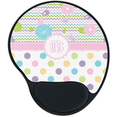 Girly Girl Mouse Pad with Wrist Support