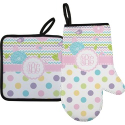 Girly Girl Oven Mitt & Pot Holder (Personalized)
