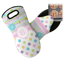 Girly Girl Neoprene Oven Mitt (Personalized)