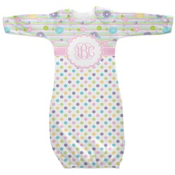 Girly Girl Newborn Gown (Personalized)