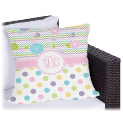 Girly Girl Outdoor Pillow (Personalized)