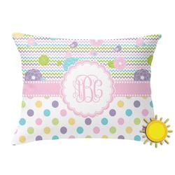 Girly Girl Outdoor Throw Pillow (Rectangular) (Personalized)