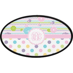 Girly Girl Oval Trailer Hitch Cover (Personalized)
