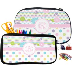 Girly Girl Pencil / School Supplies Bag (Personalized)