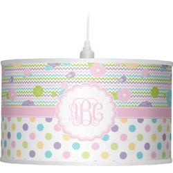 Girly Girl Drum Pendant Lamp (Personalized)