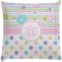 Girly Girl Euro Sham Pillow Case (Personalized)