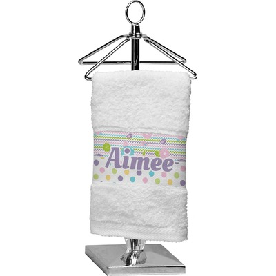 Girly Girl Cotton Finger Tip Towel (Personalized)