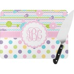 Girly Girl Rectangular Glass Cutting Board (Personalized)