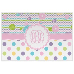 Girly Girl Laminated Placemat w/ Monogram