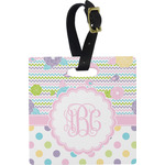 Girly Girl Square Luggage Tag (Personalized)