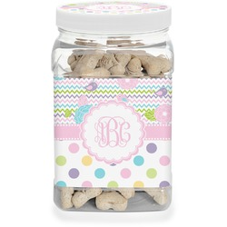 Girly Girl Pet Treat Jar (Personalized)