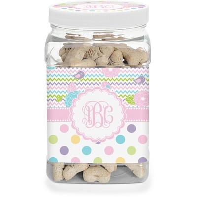 Girly Girl Pet Treat Jar (Personalized)