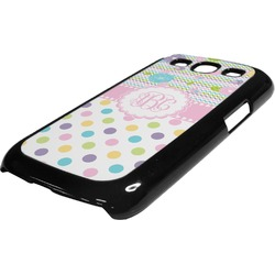Girly Girl Plastic Samsung Galaxy 3 Phone Case (Personalized)