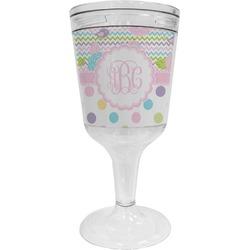 Girly Girl Wine Tumbler - 11 oz Plastic (Personalized)