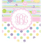 Girly Girl Iron On Faux Pocket (Personalized)