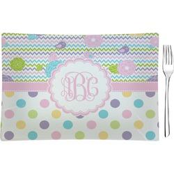 Girly Girl Rectangular Glass Appetizer / Dessert Plate - Single or Set (Personalized)