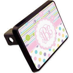 "Girly Girl Rectangular Trailer Hitch Cover - 2"" (Personalized)"