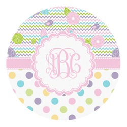 Girly Girl Round Decal - Custom Size (Personalized)
