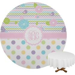 Girly Girl Round Tablecloth (Personalized)