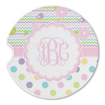 Girly Girl Sandstone Car Coasters (Personalized)