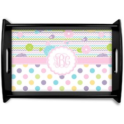 Girly Girl Black Wooden Tray (Personalized)