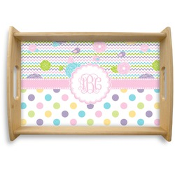 Girly Girl Natural Wooden Tray (Personalized)