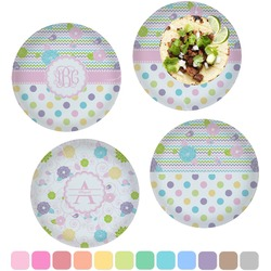Girly Girl Set of 4 Lunch / Dinner Plates (Glass) (Personalized)