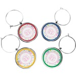 Girly Girl Wine Charms (Set of 4) (Personalized)