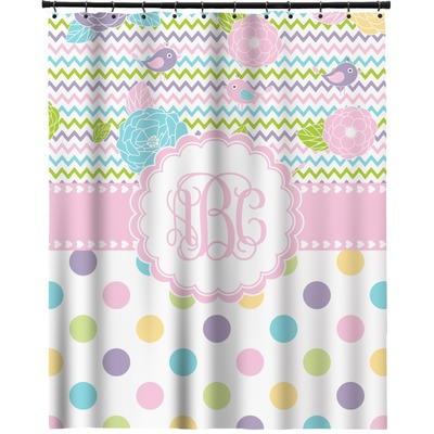 "Girly Girl Extra Long Shower Curtain - 70""x84"" (Personalized)"