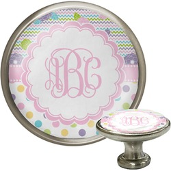 Girly Girl Cabinet Knob (Silver) (Personalized)