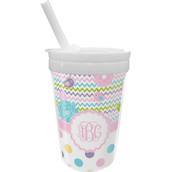Girly Girl Sippy Cup with Straw (Personalized)