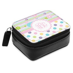 Girly Girl Small Leatherette Travel Pill Case (Personalized)