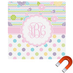 Girly Girl Square Car Magnet (Personalized)