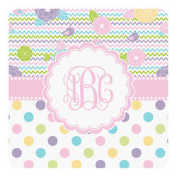 Girly Girl Square Decal (Personalized)