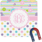 Girly Girl Square Fridge Magnet (Personalized)