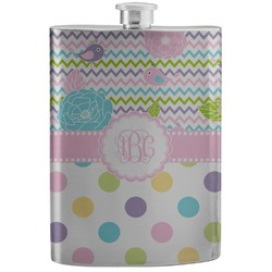 Girly Girl Stainless Steel Flask (Personalized)