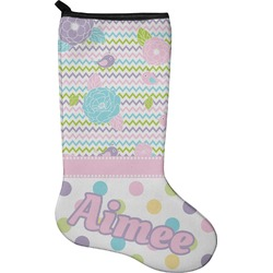 Girly Girl Christmas Stocking - Neoprene (Personalized)