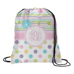 Girly Girl Drawstring Backpack (Personalized)