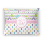 Girly Girl Rectangular Throw Pillow (Personalized)