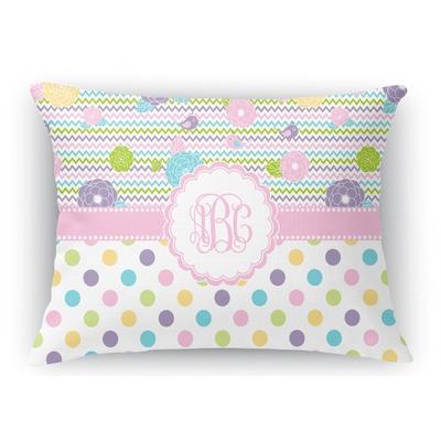 Girly Girl Rectangular Throw Pillow Case (Personalized)