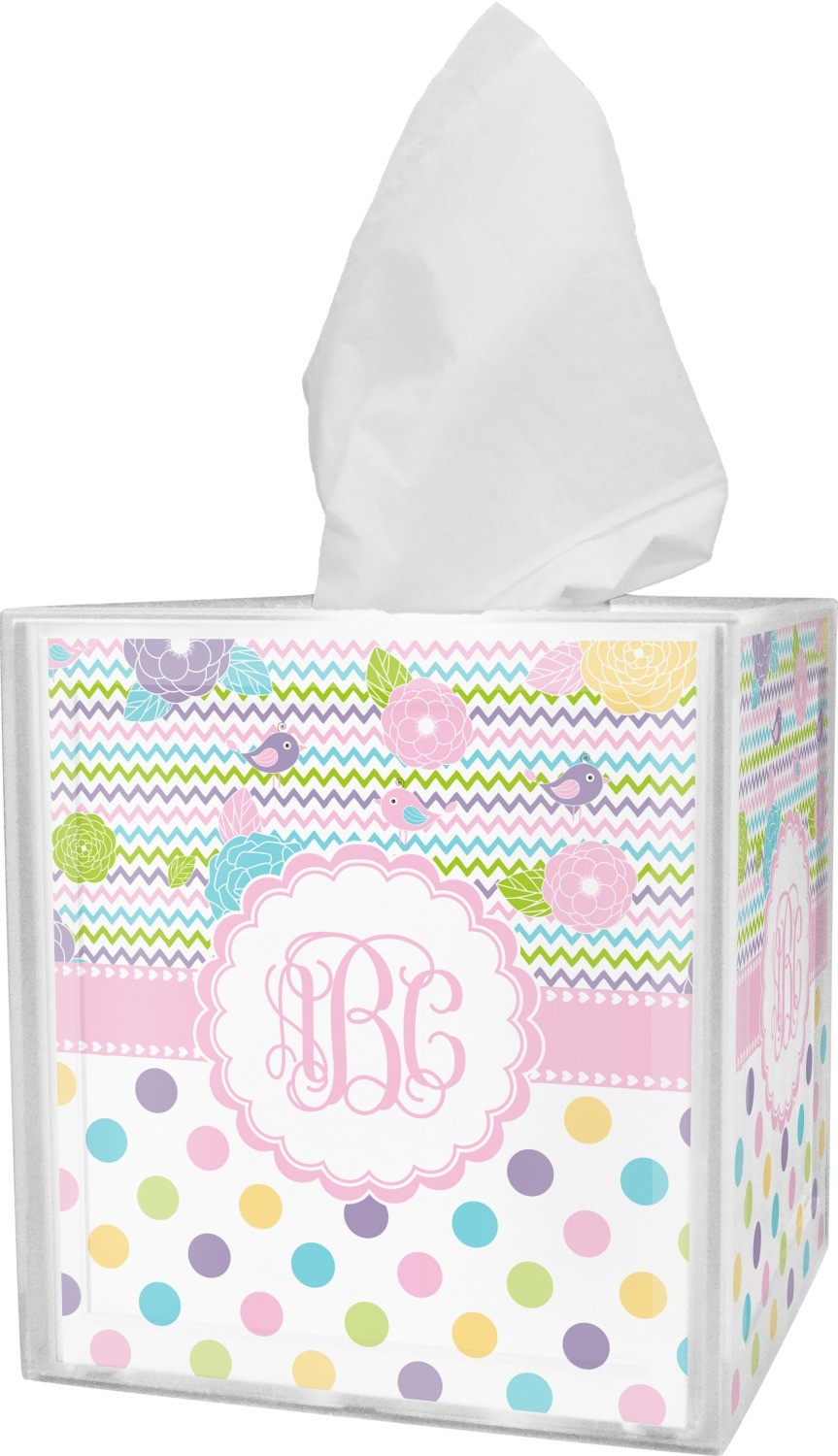 Girly Girl Tissue Box Cover (Personalized) - YouCustomizeIt