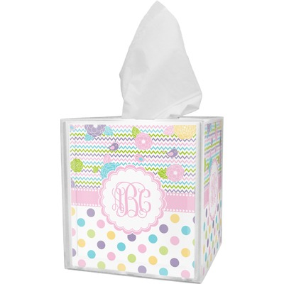 Girly Girl Tissue Box Cover (Personalized)