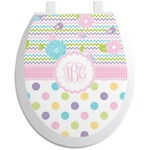 Girly Girl Toilet Seat Decal (Personalized)